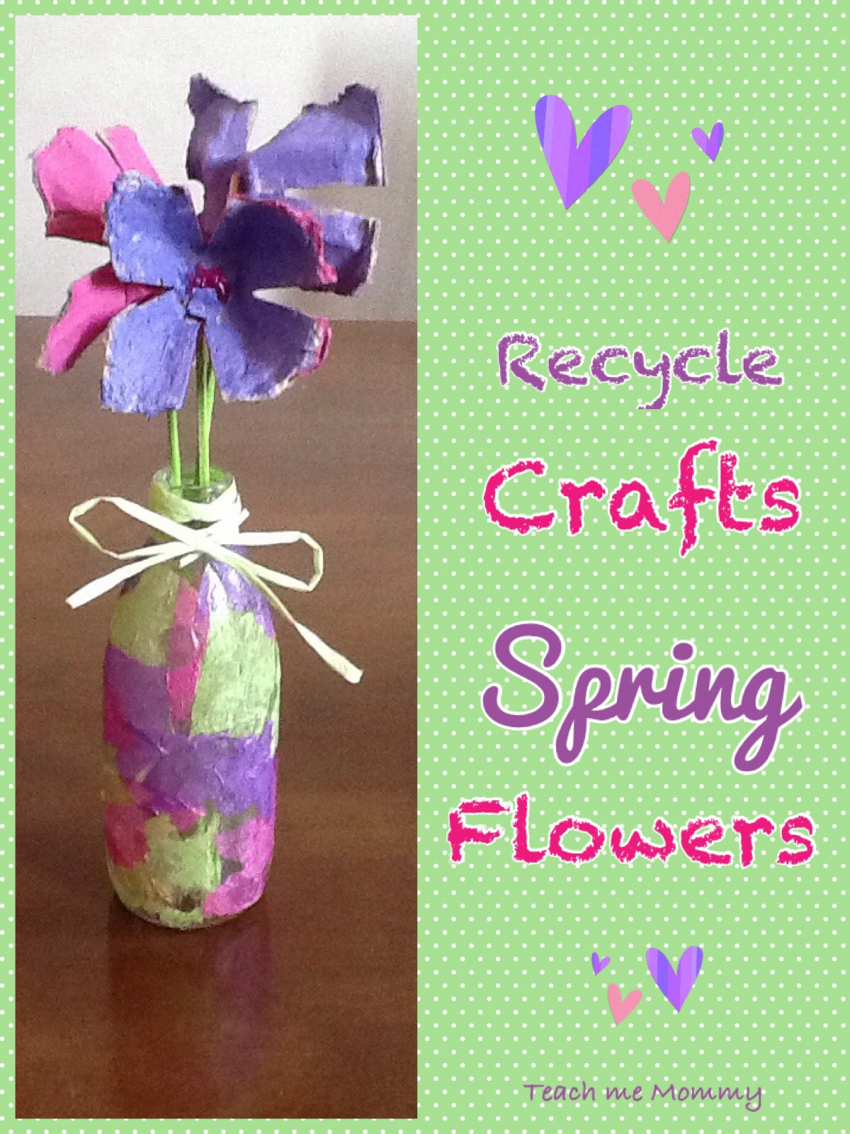 spring arts and crafts ideas recycle crafts flowers teach me 7176