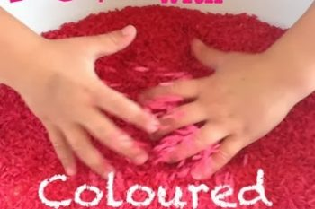 Ways to play with Coloured Rice