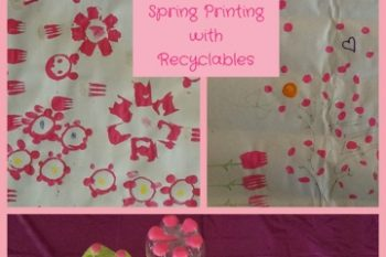Spring Printing with Recyclables