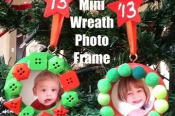 Mini Wreath Photo Frame Ornaments