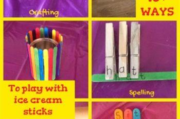 10+ Ways to play with Ice cream sticks