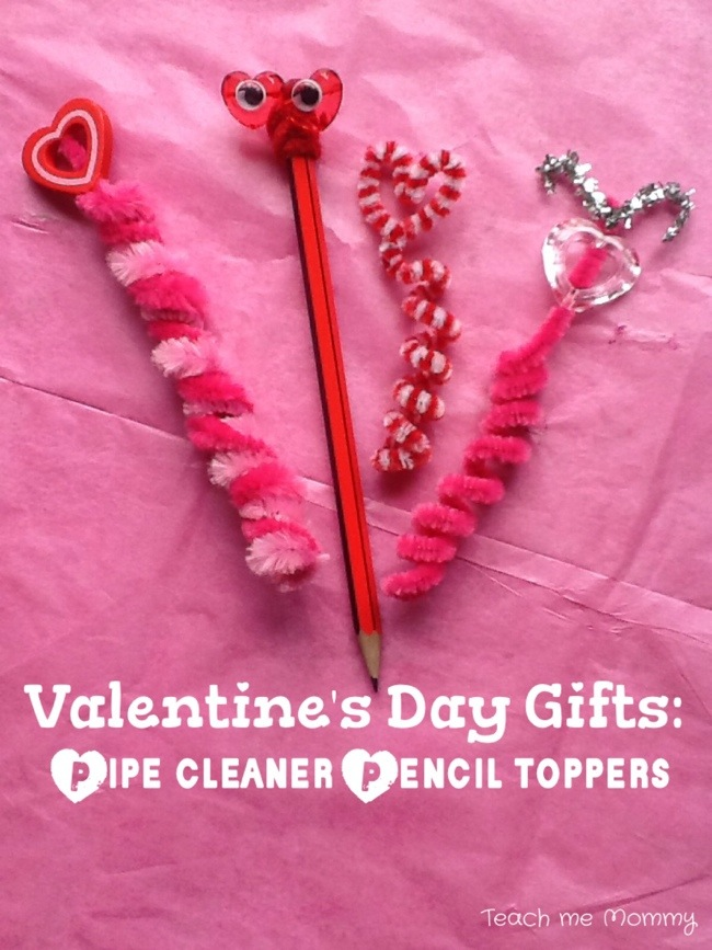 Valentine's Day Gifts: Pipe Cleaner Pencil Toppers - Teach ...