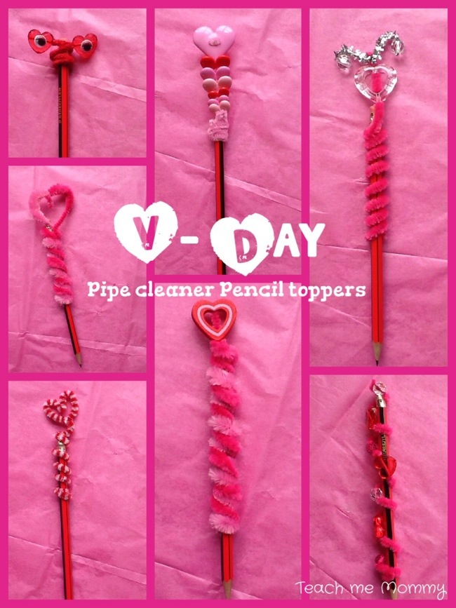 Valentines Day Gifts Pipe Cleaner Pencil Toppers Teach