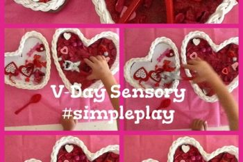 Heart Themed Sensory Play