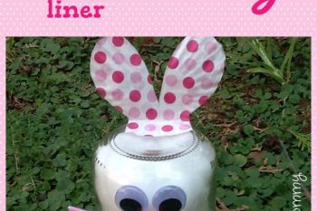 Jar and Cupcake Liner Bunny