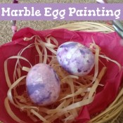 marble egg painting