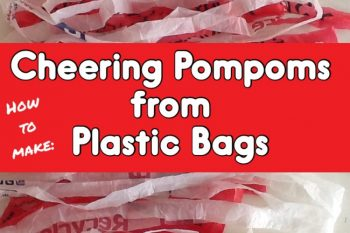 Cheering Pom Poms from Plastic bags