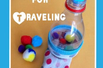 Fine Motor Pompom Play for Traveling