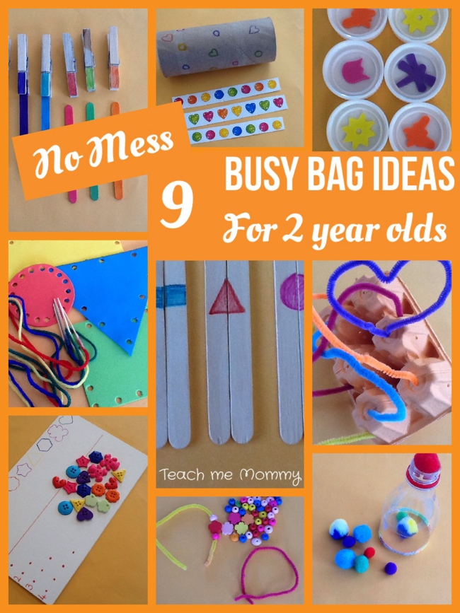 activities for 2 year olds at home no mess busy bag ideas for 2 year olds teach me 13546