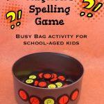 DIY Magnetic Spelling Game
