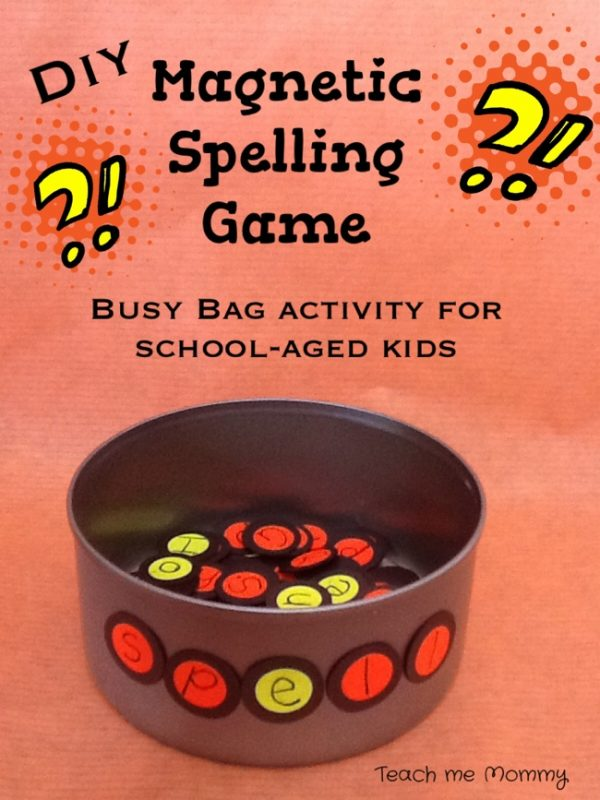diy magnetic spelling game teach me mommy. Black Bedroom Furniture Sets. Home Design Ideas