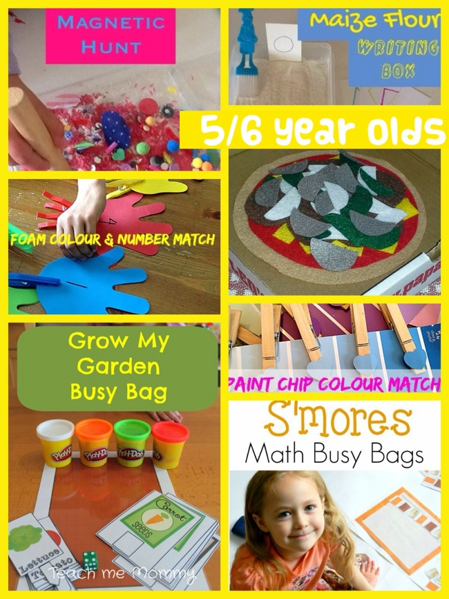 Roundup busy bags for 5 and 6 year olds teach me mommy for Gardening tools for 6 year old