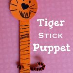 Tiger Stick Puppet