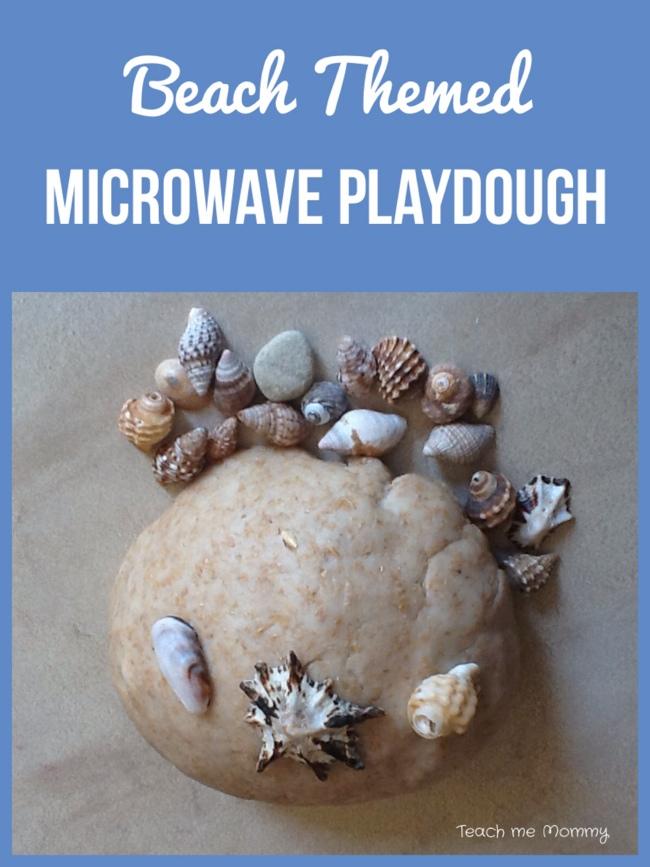 Beach themed microwave playdough