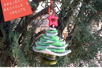 Recycled Christmas Tree Ornament