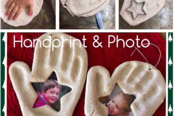 Handprint & Photo Keepsake Ornament