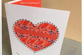 Washi Tape Valentines Day Card