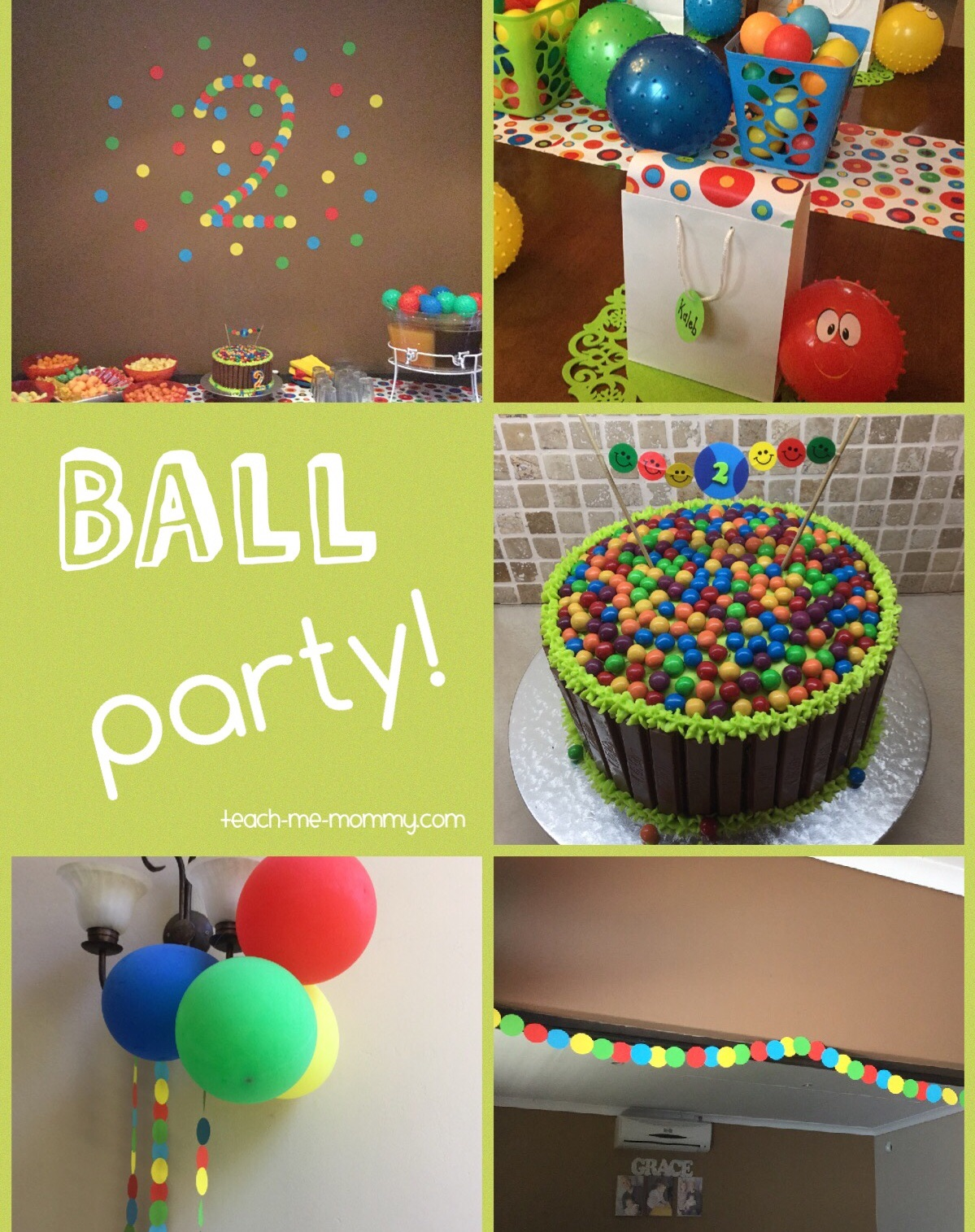 Ball Themed Party for a 2 Year Old - Teach Me Mommy