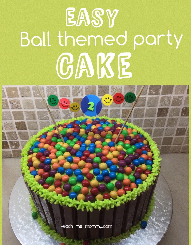 Brilliant Easy Ball Themed Party Cake Teach Me Mommy Funny Birthday Cards Online Inifodamsfinfo
