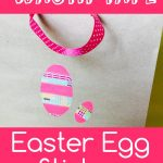 Washi tape egg sticker