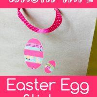 Washi tape egg sticker
