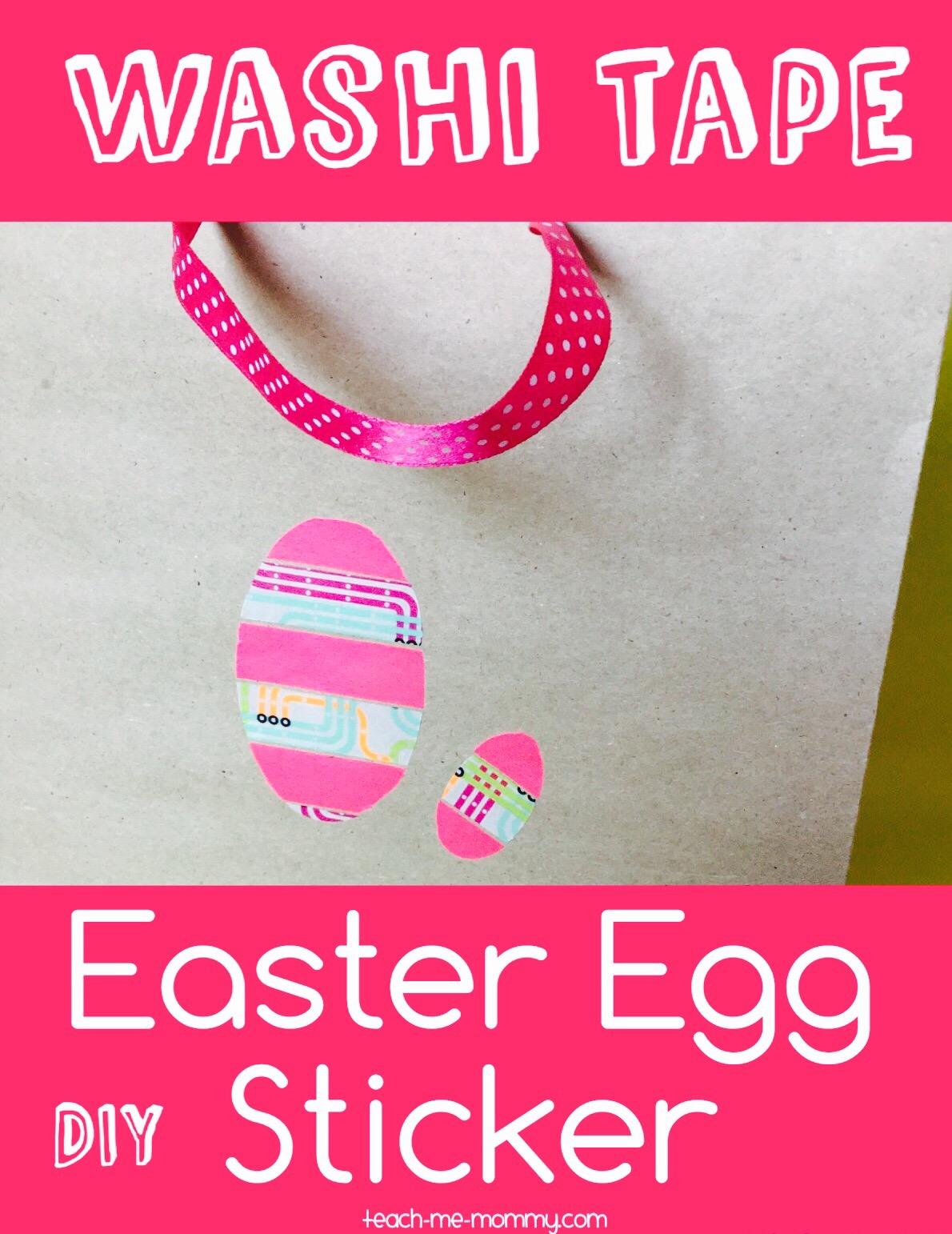 washi tape easter sticker