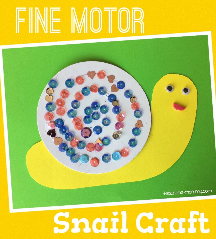 Fine Motor Snail Craft