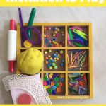 Invitation to Play: Playdough Easter Eggs