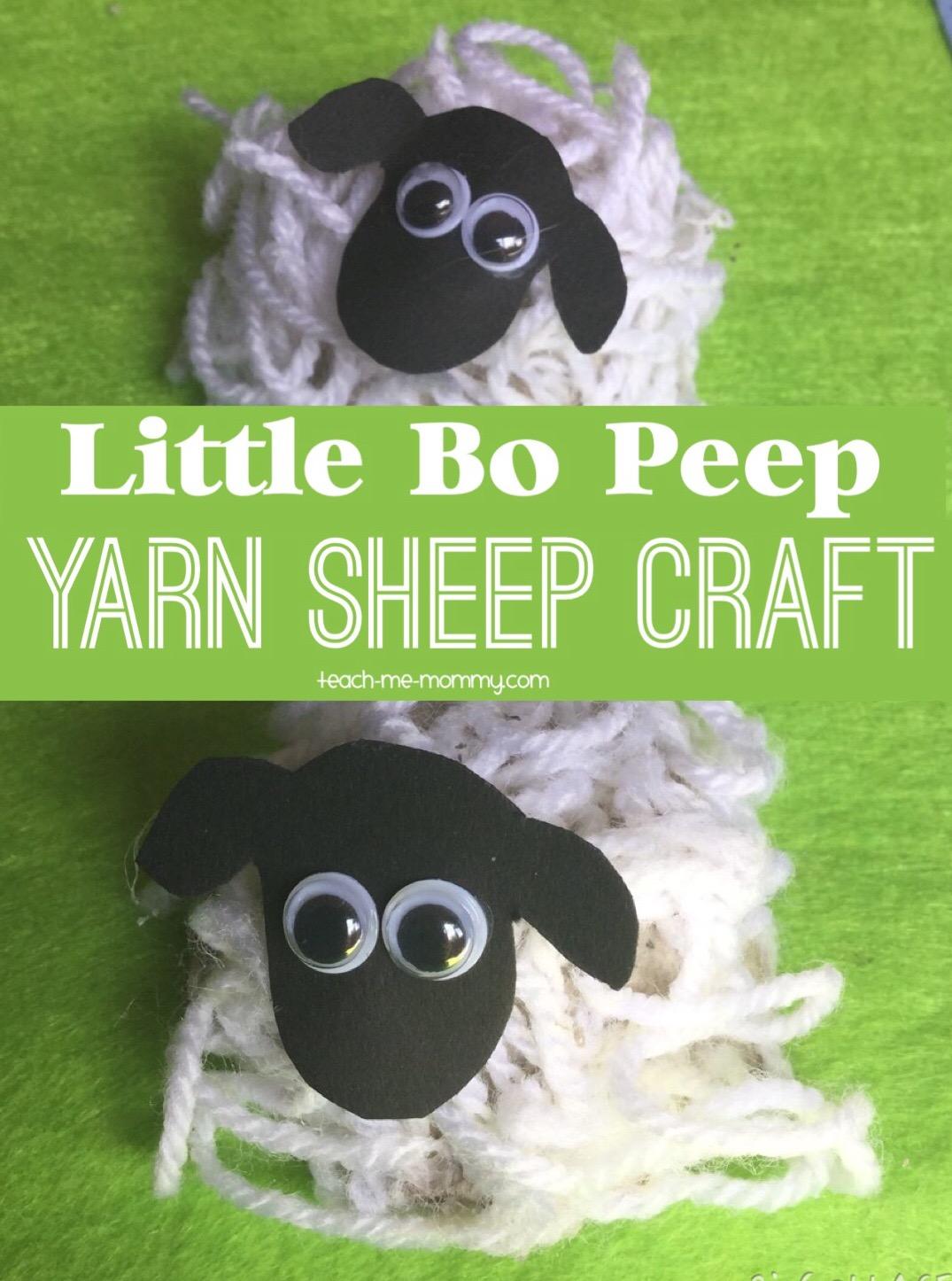 little bo peep sheep craft teach me mommy