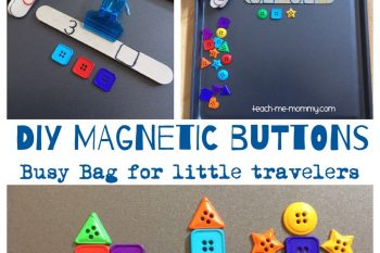 DIY Magnetic Buttons Busy Bag