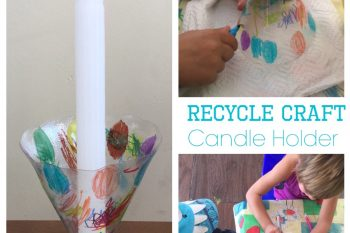 Recycle Craft: Candle Holder