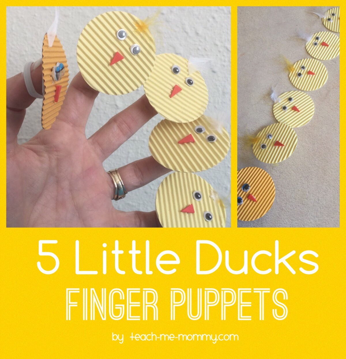 Five Little Ducks Finger Puppets Teach Me Mommy