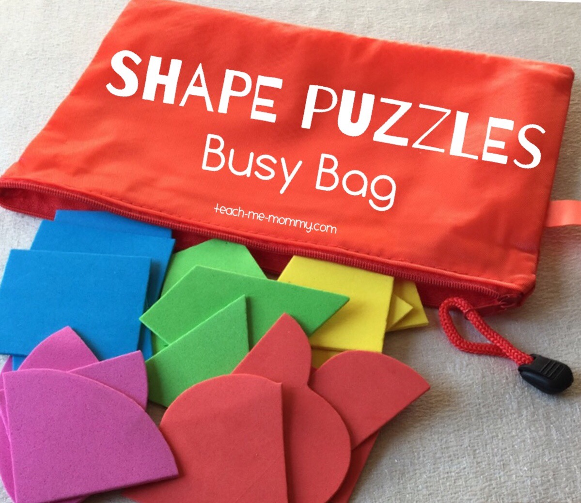 shape puzzle busy bags