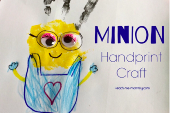 Minion Handprint Craft