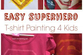 Easy Superhero T-Shirt Painting