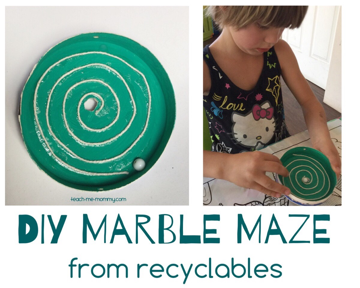 Diy Marble Maze From Recyclables Teach Me Mommy