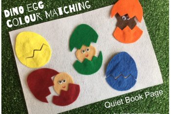 Dinosaur Egg Matching Quiet Page