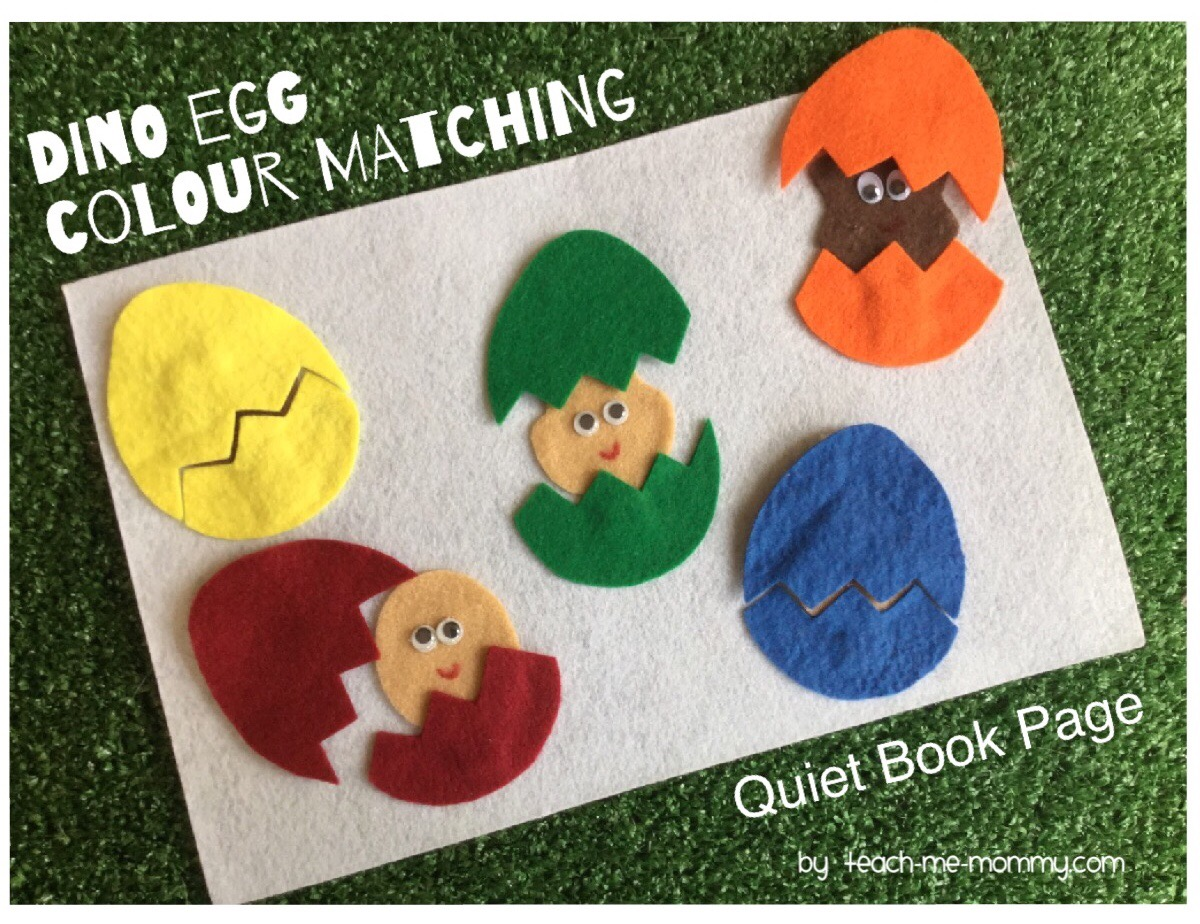 dino egg matching quiet page