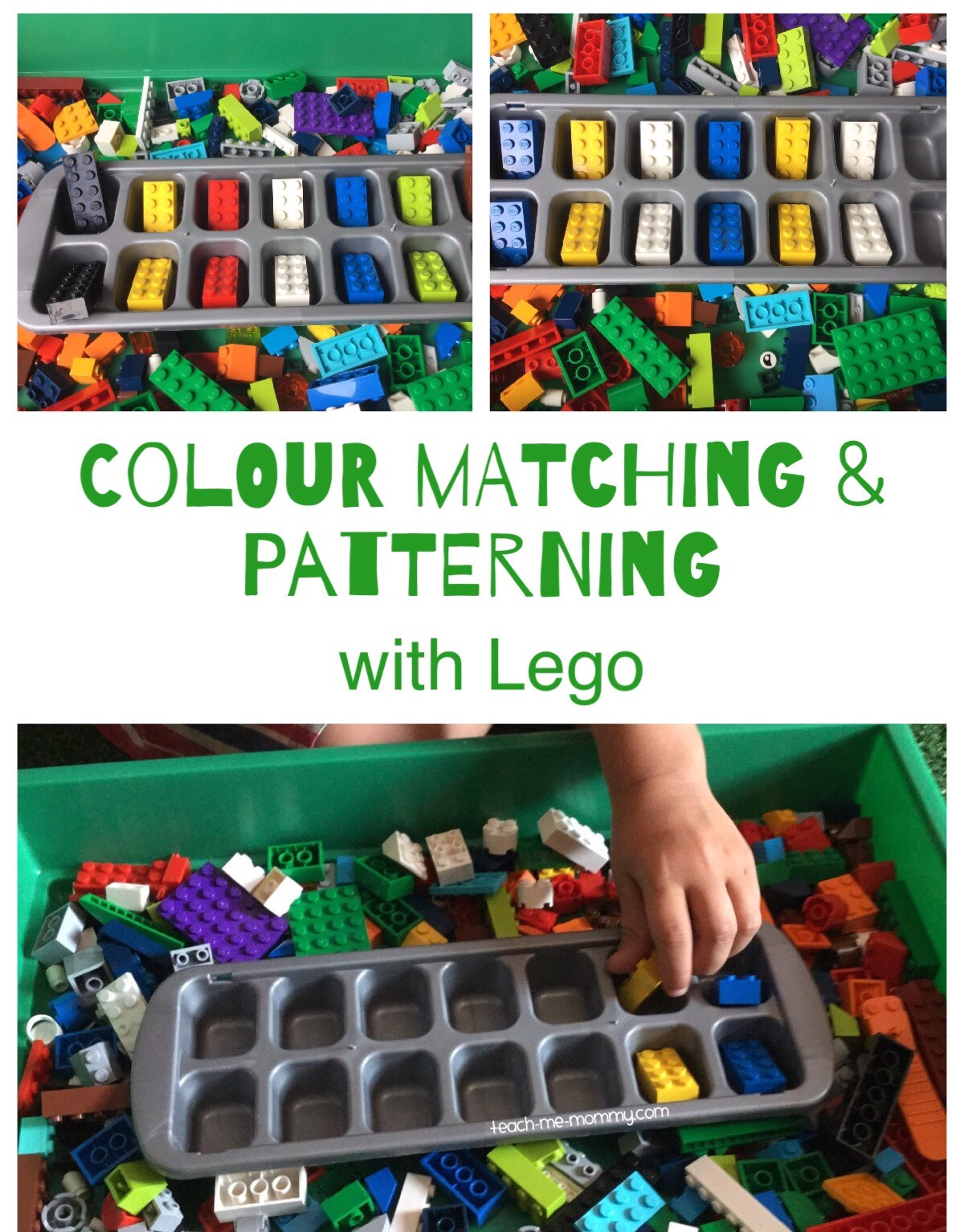 Lego Colour Matching & Patterning - Teach Me Mommy