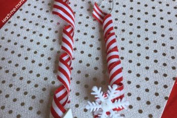 Ribbon Spiral Christmas Tree Ornament