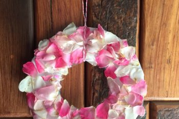 Ring-o-Roses Fresh Rose Petal Wreath