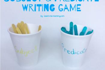 Subject & Predicate Writing Game