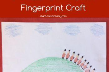 Grand Old Duke of York Fingerprint Craft