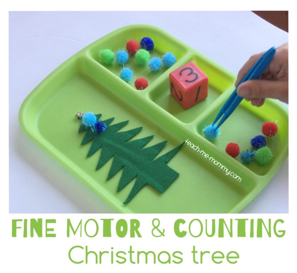 christmas tree fine motor & counting