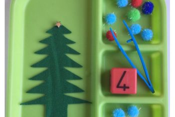 Fine Motor & Counting Christmas Tree