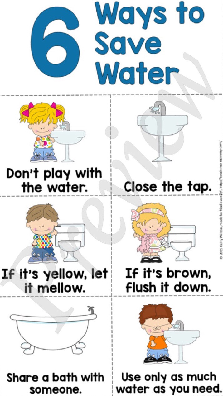 Teaching kids to save water teach me mommy for How to save water in your house