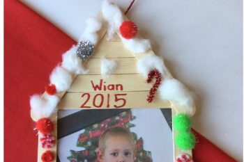 Gingerbread House Photo Frame Ornament