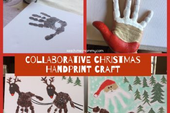 Collaborative Christmas Handprint Craft