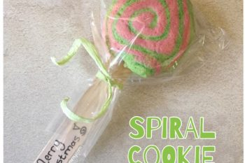 Spiral Cookie Lollipops