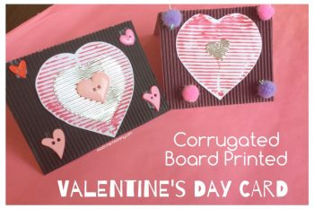 Corrugated Board Printed Valentine's Day Card